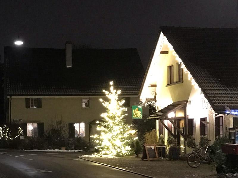Weihnachtsbeleuchtung Unterdorf Affolgern